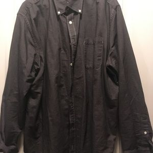 Charcoal gray men's button up shirt. size XXL